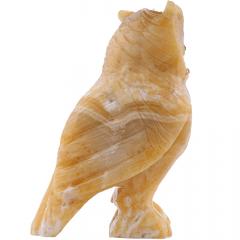 Coruja de Pedra Calcita Mel 1,232 kg