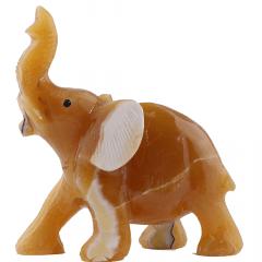 Elefante de Pedra Calcita Mel 1,016 kg