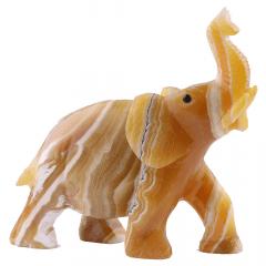 Elefante de Pedra Calcita Mel 1,758 kg
