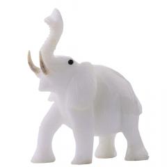 Elefante de Pedra Quartzo Leitoso 980g