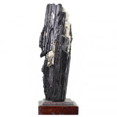 Pedra Turmalina Negra Bruta com Base 263g