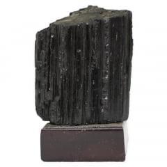 Pedra Turmalina Negra Bruta com Base 572g