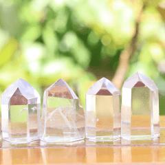 Ponta de Cristal Transparente de 3 a 5,5 cm