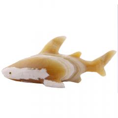 Tubarão de Pedra Calcita Mel 1,074 kg