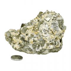 Pedra Esfalerita com Calcopirita no Quartzo 962g - Helena Cristais