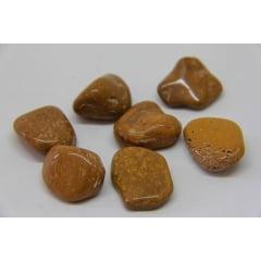 Pedra Jaspe Dourado Bruta 2 a 4 cm - Helena Cristais