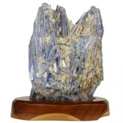 Pedra Cianita Azul Bruta na Base 05
