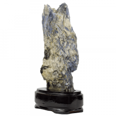 Pedra Cianita Azul Bruta na Base 07