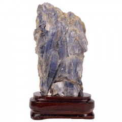 Pedra Cianita Azul Bruta na Base 11