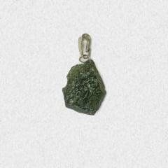 Pingente Moldavita (Meteorito) 14 quilates