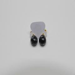 Brinco Obsidiana Floco de Neve Esfera