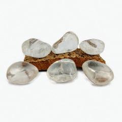 Pedra Quartzo Cristal Rolada - Helena Cristais
