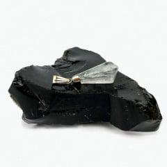 Pingente de Pedra Quartzo Leitoso - Helena Cristais
