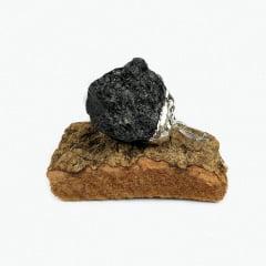 Pingente de Pedra Turmalina Negra Bruta